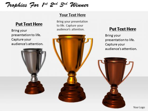 Stock Photo Business Level Strategy Definition Trophies For 1st 2nd 3rd Winner Images Photos