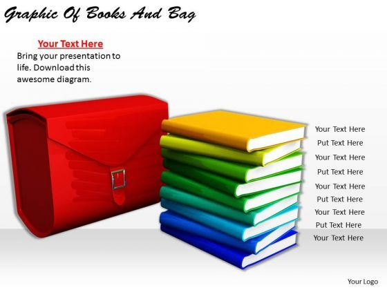 Stock Photo Business Management Strategy Graphic Of Books And Bag Clipart