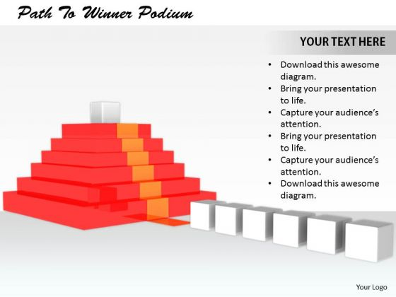 Stock Photo Business Management Strategy Path To Winner Podium Images And Graphics
