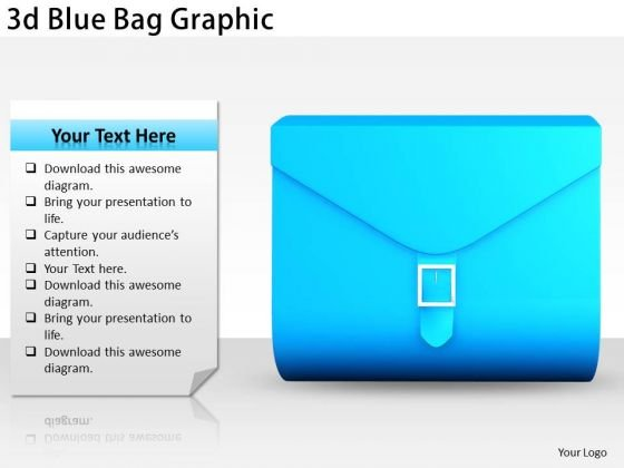 Stock Photo Business Marketing Strategy 3d Blue Bag Graphic Photos