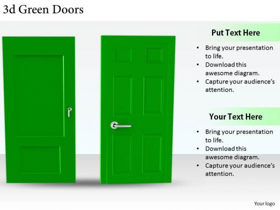Stock Photo Business Marketing Strategy 3d Green Doors Stock Photo Photos