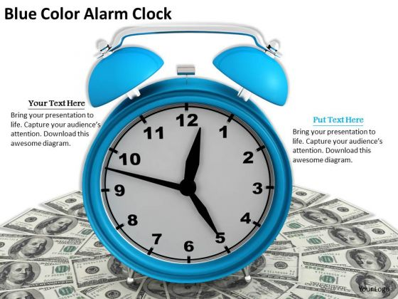 Stock Photo Business Marketing Strategy Blue Color Alarm Clock Stock Photo Clipart Images