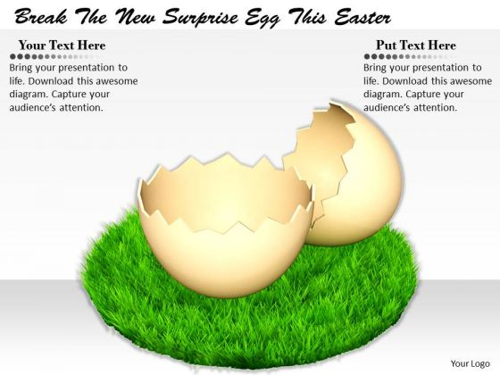 Stock Photo Business Marketing Strategy Break The New Surprise Egg This Easter Icons