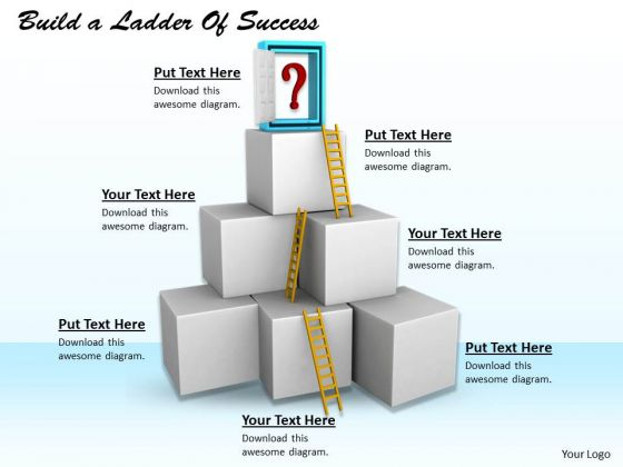 Stock Photo Business Marketing Strategy Build Ladder Of Success Icons