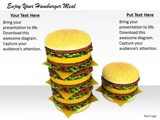 Stock Photo Business Marketing Strategy Enjoy Your Hamburger Meal Images And Graphics