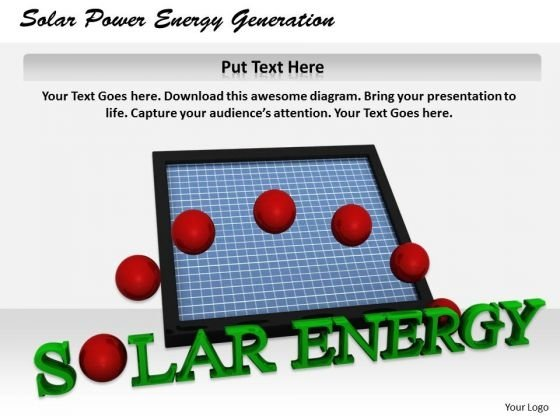 Stock Photo Business Marketing Strategy Solar Power Energy Generation Icons