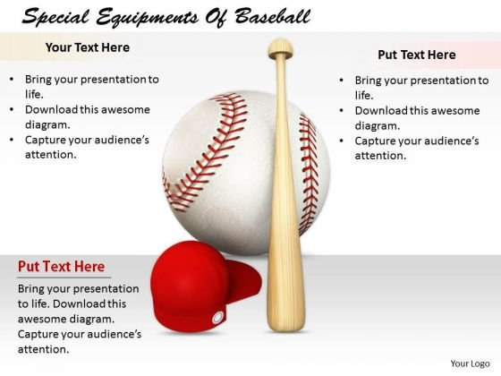 Stock Photo Business Marketing Strategy Special Equipments Of Baseball Icons