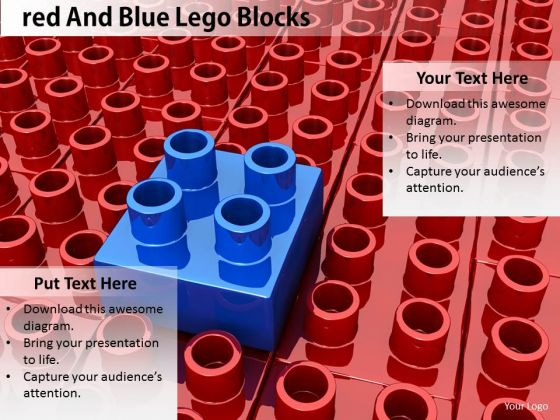 Stock Photo Business Model Strategy Red And Blue Lego Blocks Pictures Images