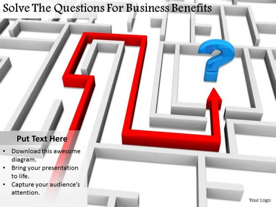 Stock Photo Business Model Strategy Solve The Questions For Benefits Image
