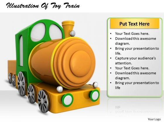 Stock Photo Business Plan And Strategy Illustration Of Toy Train Stock Images