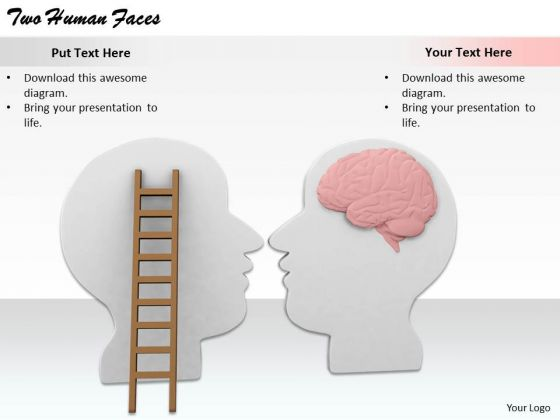 Stock Photo Business Plan And Strategy Two Human Faces Images