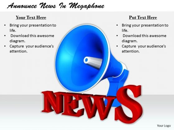 Stock Photo Business Plan Strategy Announce News Megaphone Clipart Images