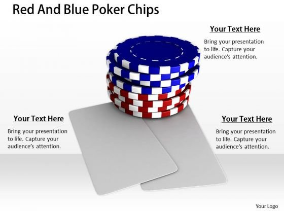 Stock Photo Business Plan Strategy Red And Blue Poker Chips Success Images