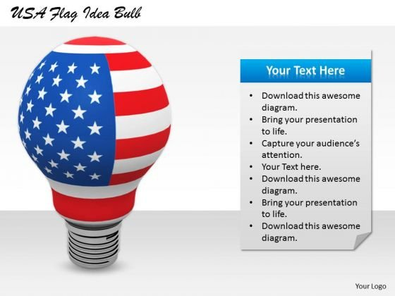 Stock Photo Business Plan Strategy Usa Flag Idea Bulb Icons