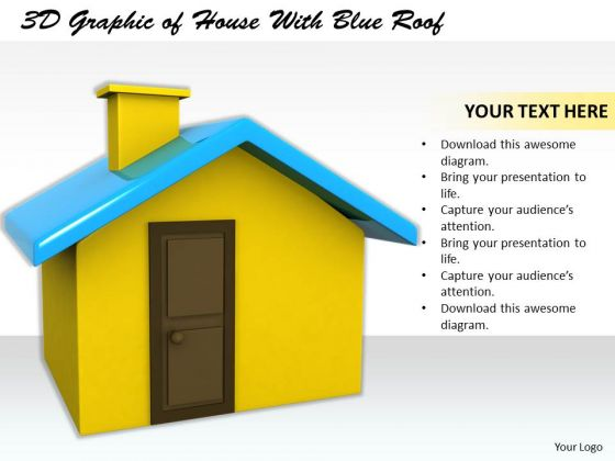 Stock Photo Business Planning Strategy 3d Graphic Of House With Blue Roof