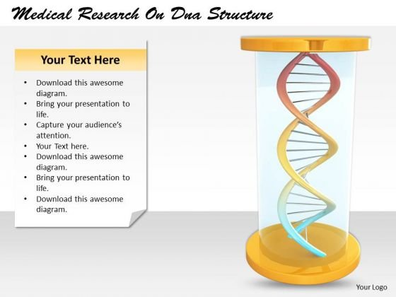 Stock Photo Business Policy And Strategy Medical Research On Dna Structure Image