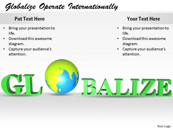 Stock Photo Business Process Strategy Globalize Operate Internationally Images Photos
