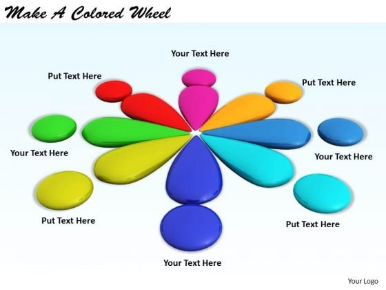 Stock Photo Business Process Strategy Make Colored Wheel Image
