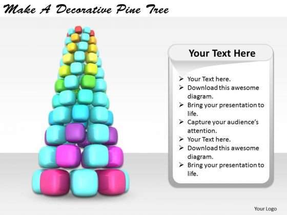 Stock Photo Business Process Strategy Make Decorative Pine Tree Image
