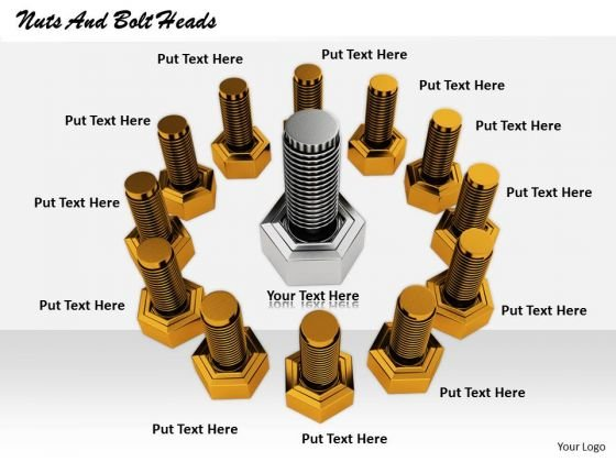 Stock Photo Business Process Strategy Nuts And Bolt Heads Photos