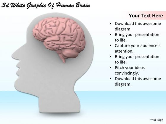 Stock Photo Business Strategy And Policy 3d White Graphic Of Human Brain Pictures Images