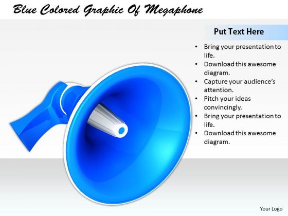 Stock Photo Business Strategy And Policy Blue Colored Graphic Of Megaphone Images