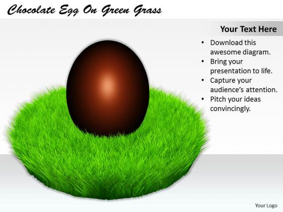 Stock Photo Business Strategy And Policy Chocolate Egg On Green Grass Icons