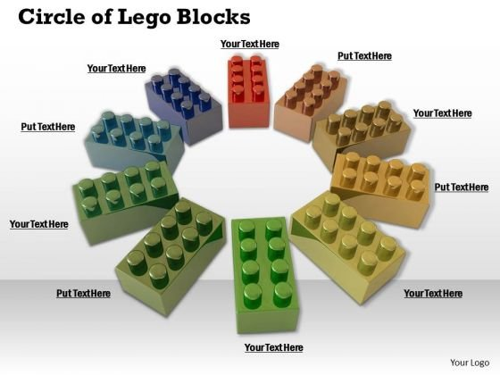 Stock Photo Business Strategy And Policy Circle Of Lego Blocks Icons