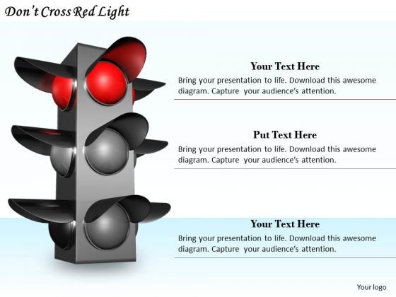 Stock Photo Business Strategy And Policy Dont Cross Red Light Icons