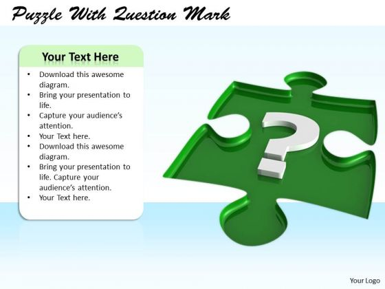 Stock Photo Business Strategy And Policy Puzzle With Question Mark