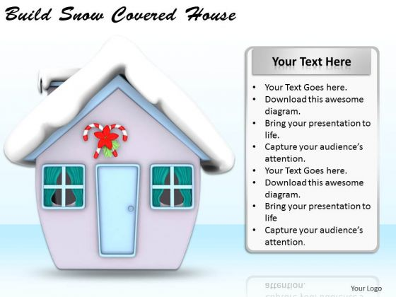 Stock Photo Business Strategy Build Snow Covered House Success Images
