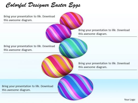 Stock Photo Business Strategy Colorful Designer Easter Eggs Images