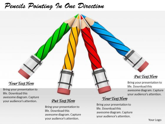 Stock Photo Business Strategy Concepts Pencils Pointing One Direction Pictures