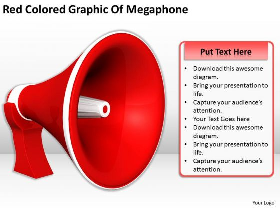 Stock Photo Business Strategy Concepts Red Colored Graphic Of Megaphone Icons Images