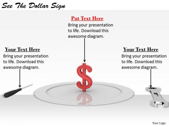 Stock Photo Business Strategy Concepts See The Dollar Sign Image
