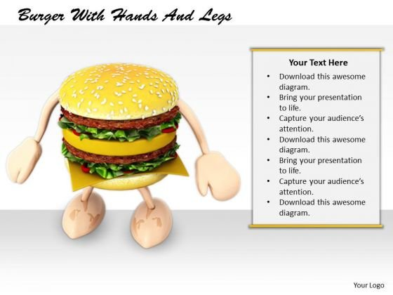 Stock Photo Business Strategy Consultant Burger With Hands Legs Clipart