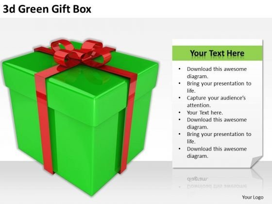 Stock Photo Business Strategy Consultants 3d Green Gift Box Icons Images