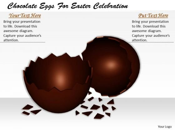 Stock Photo Business Strategy Consultants Chocolate Eggs For Easter Celebration