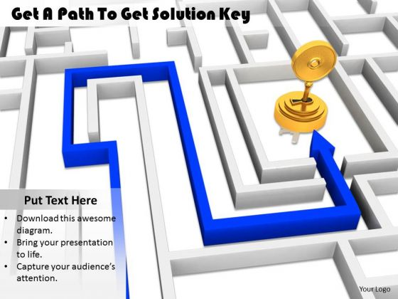 Stock Photo Business Strategy Consultants Get Path To Solution Key Image