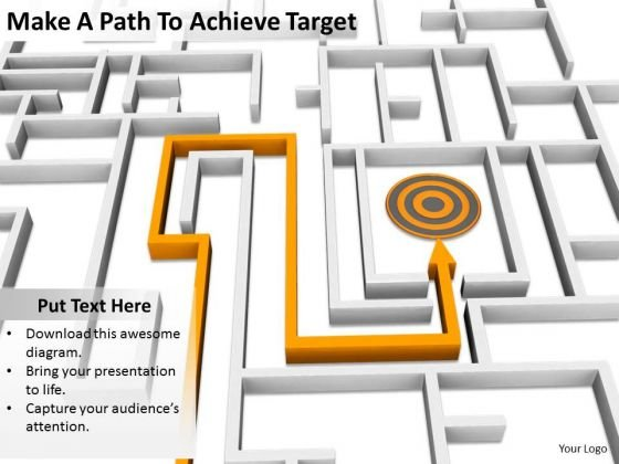Stock Photo Business Strategy Consulting Make Path To Achieve Target Images