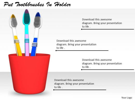 Stock Photo Business Strategy Consulting Put Toothbrushes Holder Images Photos