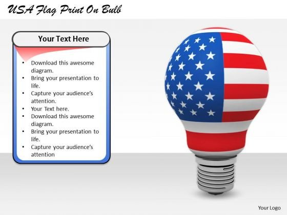 Stock Photo Business Strategy Consulting Usa Flag Print Bulb Pictures