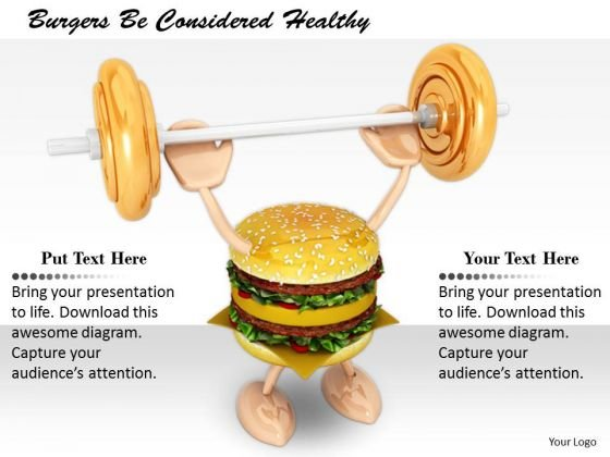 Stock Photo Business Strategy Development Burgers Be Considered Healthy Photos