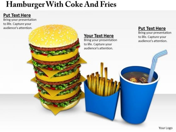 Stock Photo Business Strategy Development Hamburger With Coke And Fries Best
