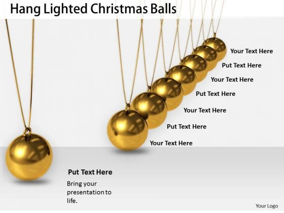 Stock Photo Business Strategy Development Hang Lighted Christmas Balls Best