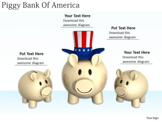 Stock Photo Business Strategy Examples Piggy Bank Of America Success Images