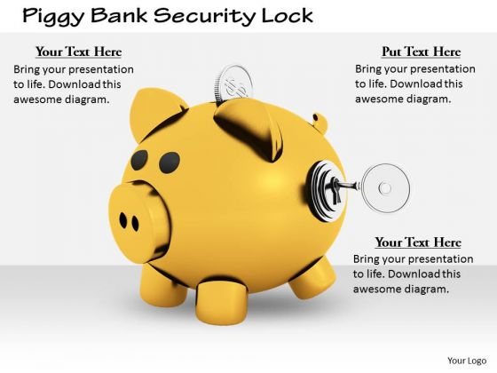 Stock Photo Business Strategy Examples Piggy Bank Security Lock Clipart