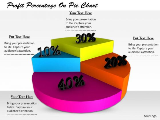 Stock Photo Business Strategy Examples Profit Percentage On Pie Chart Icons Images