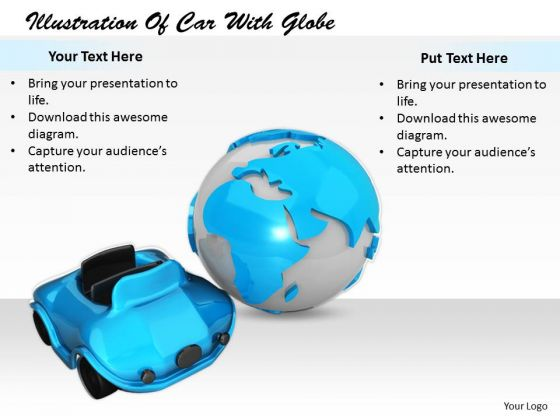 Stock Photo Business Strategy Execution Illustration Of Car With Globe