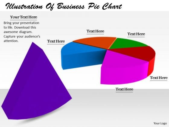 Stock Photo Business Strategy Execution Illustration Of Pie Chart Stock Photos